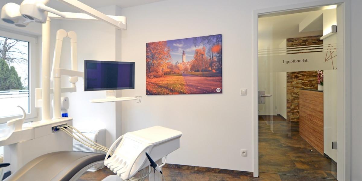Behandlungsraum Zahnarzt Akustikbild